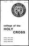 1973-1976 Catalog by College of the Holy Cross