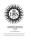 A Chronology Relating to the Jesuits in New England 1611-2014 by Vincent A. Lapomarda S.J.
