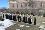 NROTC Unit in Jesuit cemetery by Barbara Merolli