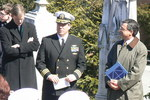 Commander Godwin USN Addressing Attendees of 50th Anniversary Remembrance by Barbara Merolli