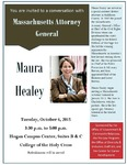 Conversation with Massachusetts Attorney General Maura Healey by Office of Government and Community Relations