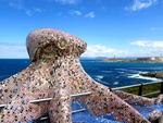 El Pulpo y la torre de Hercules de la Coruña