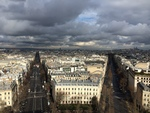 Paris Beneath Storm Clouds